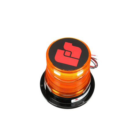 Permanent Mount with Tall Amber Dome Federal Signal 212660-02SB Pulsator LED Beacon Class 1