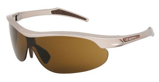 d4d2df4e99 MCR Safety DM142BPF Dominator 4 Safety Glasses (Champagne Color Frame) ( Brown TPR) (Brown Logo) (Brown MAX6 Lens)