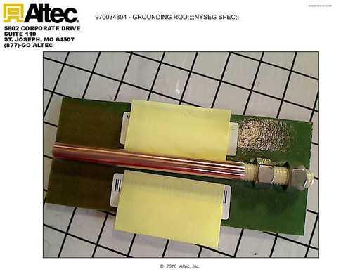 National MFG 7354 Grounding Rod NYSEG Spec   Altec Inc