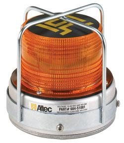 Federal Signal Altec 651 Series B LED Strobe Beacon 12-24VDC Amber 068451218-B