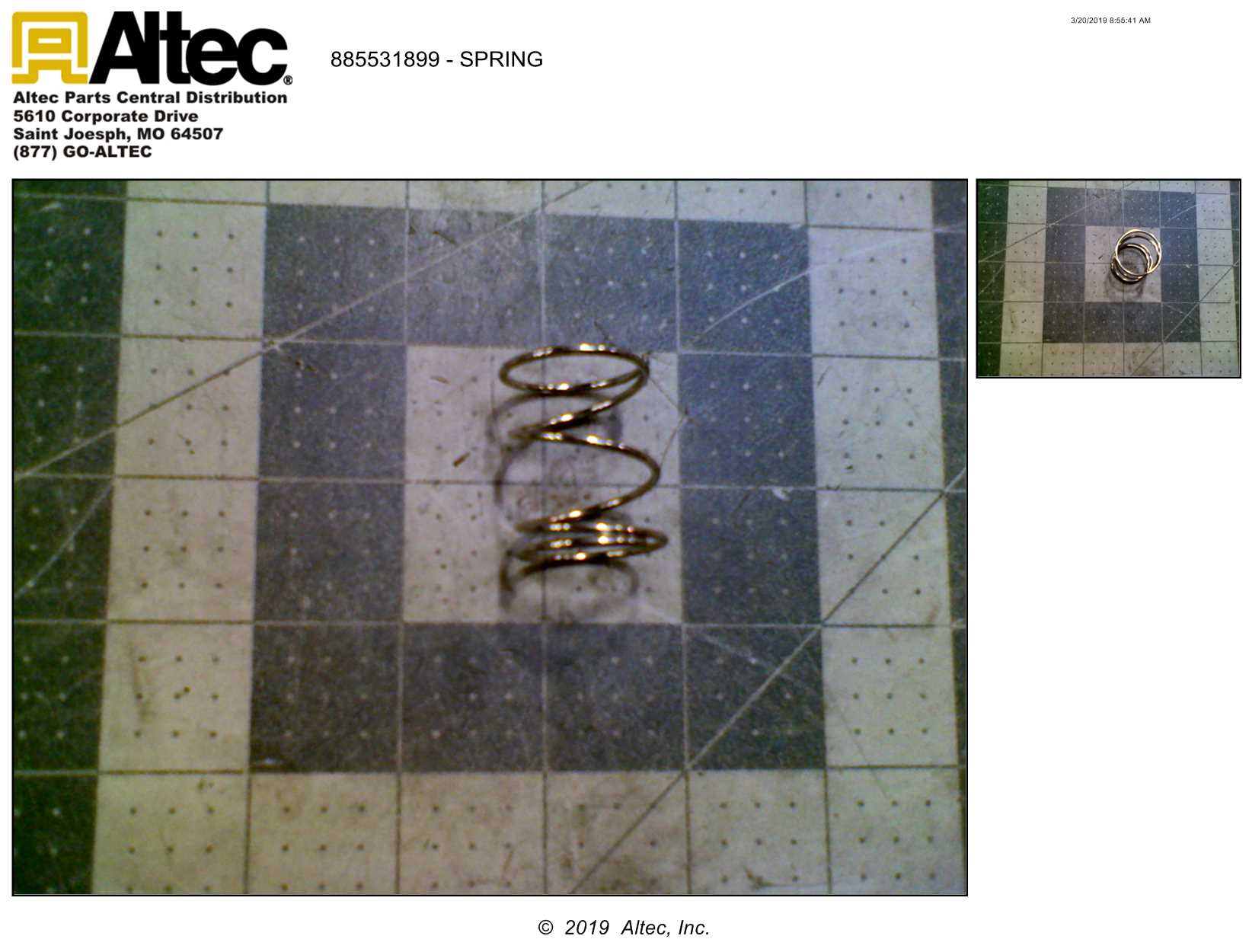 Stanley Hydraulic Tools 31899 Spring   Altec Inc